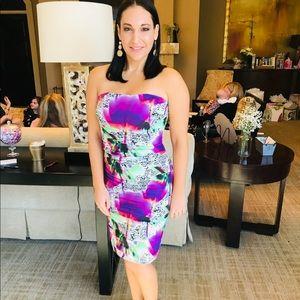 Nicole Miller floral cocktail dress